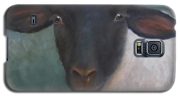 Clyde - A Suffolk Lamb Painting Galaxy S5 Case by Cheri Wollenberg