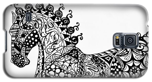 Clydesdale Foal - Zentangle Galaxy S5 Case