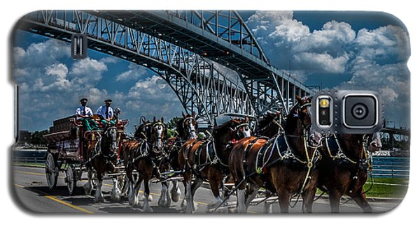 Clydesdales And Blue Water Bridges Galaxy S5 Case