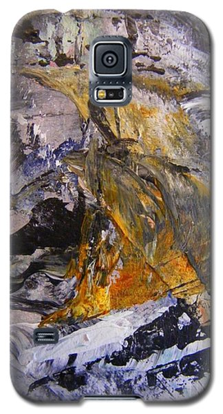 Galaxy S5 Case featuring the painting Coal 2 by Nancy Kane Chapman