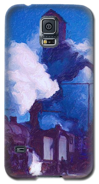 Galaxy S5 Case featuring the digital art Coal And Water Station by Chuck Mountain