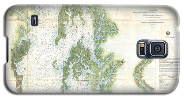 Coast Survey Chart Or Map Of The Chesapeake Bay Galaxy S5 Case by Paul Fearn