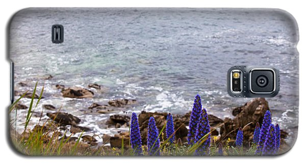 Coastal Cliff Flowers Galaxy S5 Case by Melinda Ledsome