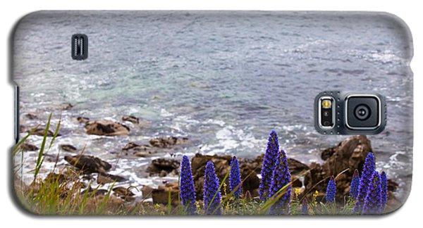 Coastal Cliff Flowers Galaxy S5 Case