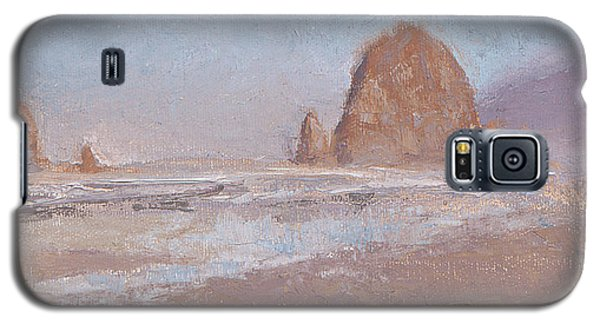 Coastal Escape  Cannon Beach Oregon And Haystack Rock  Galaxy S5 Case by Karen Whitworth