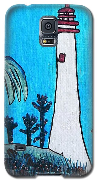 Galaxy S5 Case featuring the painting Coastal Lighthouse by Artists With Autism Inc