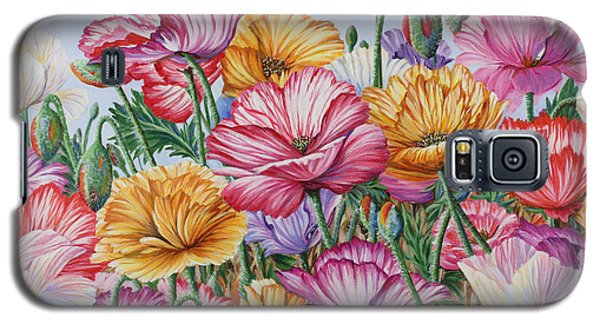 Galaxy S5 Case featuring the painting Coastal Poppies by Jane Girardot