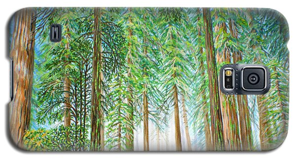 Galaxy S5 Case featuring the painting Coastal Redwoods by Jane Girardot