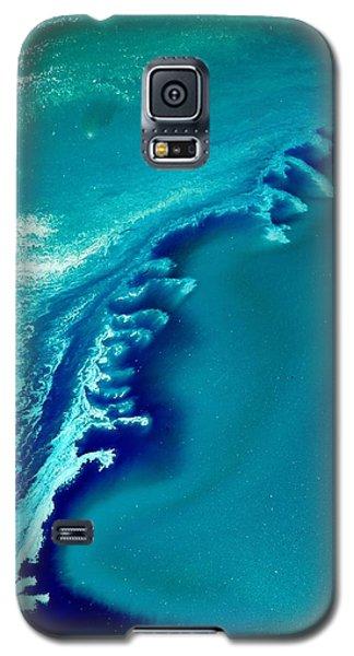 Coastal Surf Blue Abstract Waves By Kredart Galaxy S5 Case