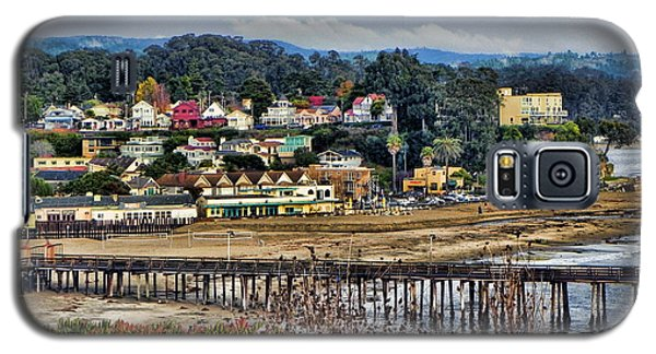 Galaxy S5 Case featuring the photograph California Coastal Town by Kathy Churchman