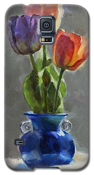 Cobalt And Tulips Still Life Painting Galaxy S5 Case