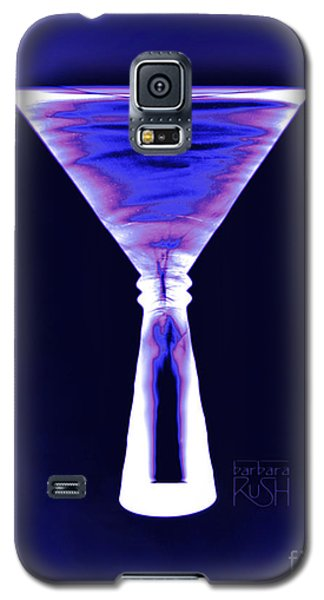 Cobalt With Purple Fringe Martini Galaxy S5 Case