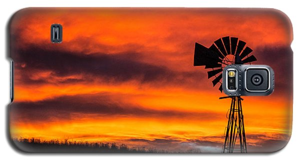 Cobblestone Windmill At Sunset Galaxy S5 Case
