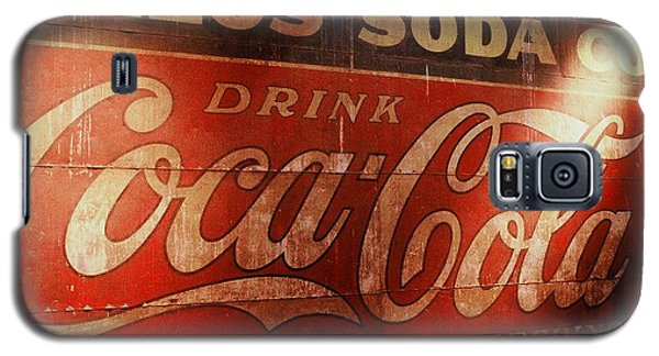 Galaxy S5 Case featuring the photograph Coca Cola Sign by Rodney Lee Williams