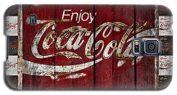 Coca Cola Sign With Little Cokes Border Galaxy S5 Case