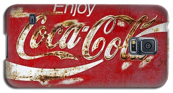 Coca Cola Vintage Rusty Sign Galaxy S5 Case