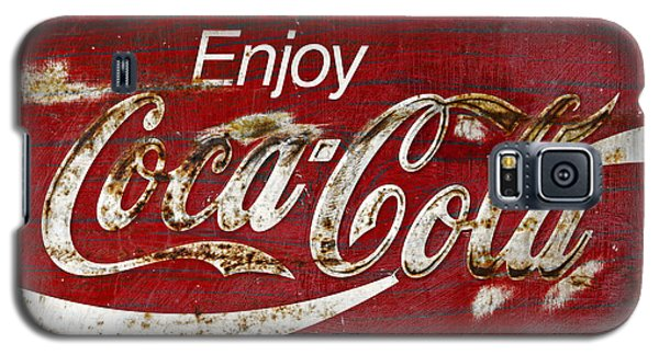Coca Cola Wood Grunge Sign Galaxy S5 Case
