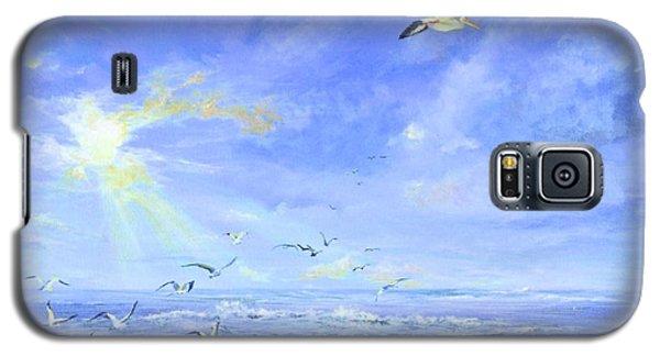 Cocoa Beach Birds Galaxy S5 Case by AnnaJo Vahle