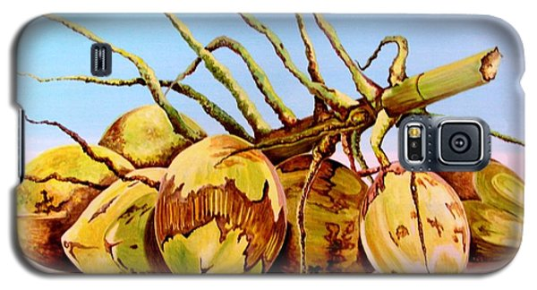 Galaxy S5 Case featuring the painting Coconut Beach by Julie  Hoyle