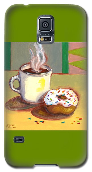 Coffee And Donut Galaxy S5 Case by Susan Thomas