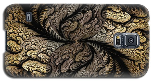 Galaxy S5 Case featuring the digital art Coffee Beans by Lea Wiggins
