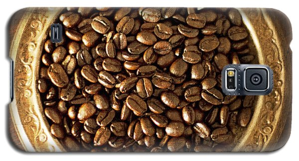 Coffee Beans On Antique Silver Platter Galaxy S5 Case