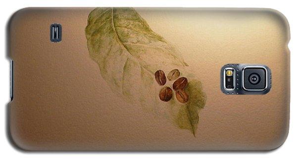 Coffee Beans On Coffea Arabica Leaf Galaxy S5 Case