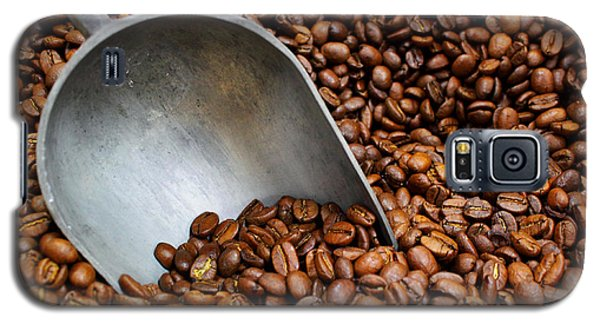 Galaxy S5 Case featuring the photograph Coffee Beans With Scoop by Jason Politte