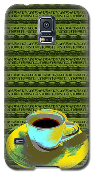 Galaxy S5 Case featuring the digital art Coffee Cup Pop Art by Jean luc Comperat