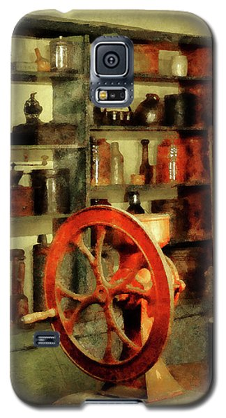 Galaxy S5 Case featuring the photograph Coffee Grinder And Canister Of Sugar by Susan Savad