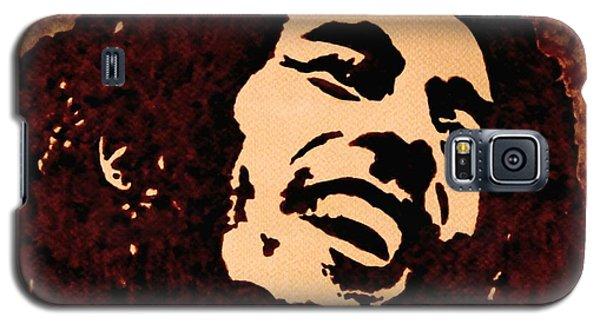 Coffee Painting Bob Marley Galaxy S5 Case by Georgeta  Blanaru