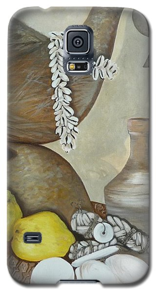 Galaxy S5 Case featuring the painting Coffee Pot by Helen Syron