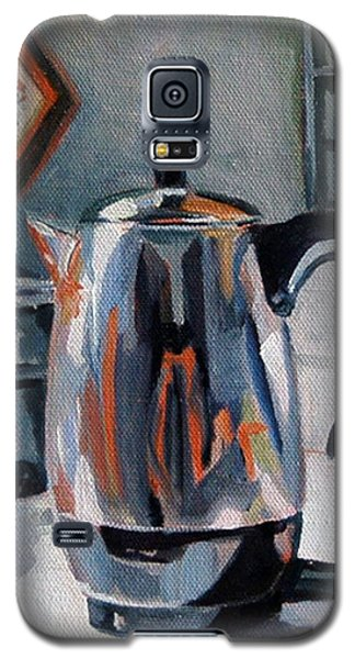 Galaxy S5 Case featuring the painting Coffeepot by Pattie Wall