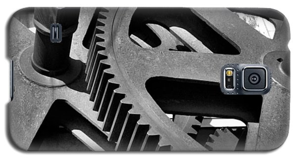 Galaxy S5 Case featuring the photograph Cogwheels In Black And White by Nadalyn Larsen