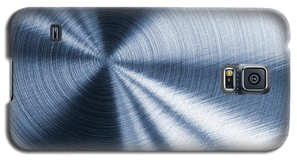 Cold Blue Metallic Texture Galaxy S5 Case