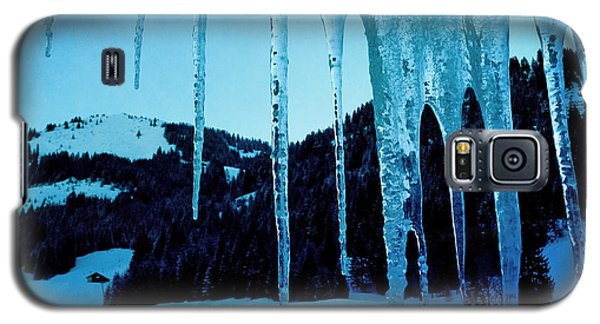 Blue Galaxy S5 Case - Cold Outside - Icicles In Winter by Matthias Hauser