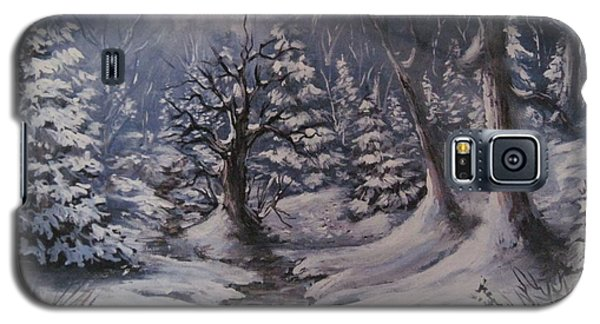 Galaxy S5 Case featuring the painting Cold Snap by Megan Walsh