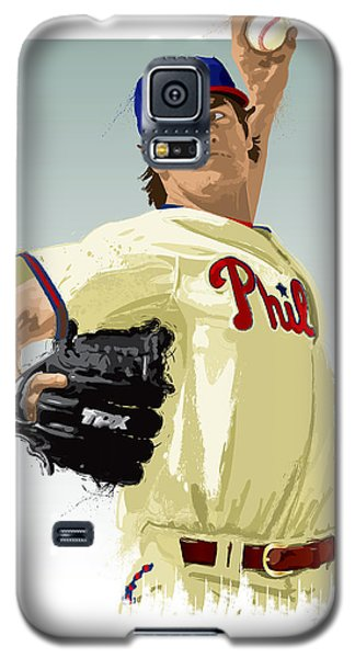 Cole Hamels Galaxy S5 Case by Scott Weigner