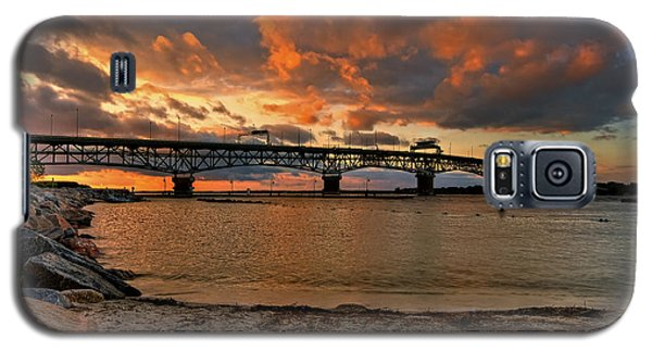 Coleman Bridge At Sunset Galaxy S5 Case