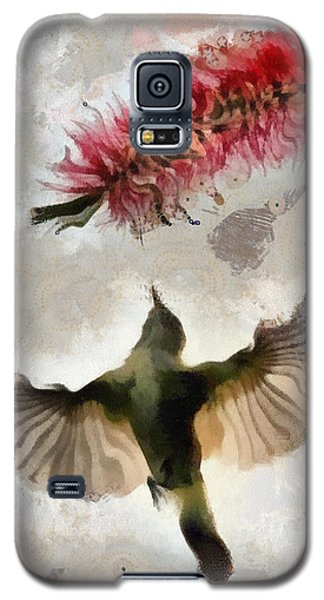 Galaxy S5 Case featuring the painting Colibri by Georgi Dimitrov