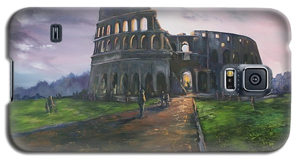 Galaxy S5 Case featuring the painting Coliseum Rome by Jean Walker