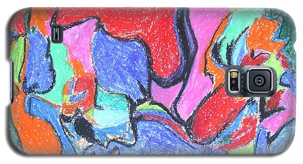 Galaxy S5 Case featuring the painting Collision Course by Esther Newman-Cohen