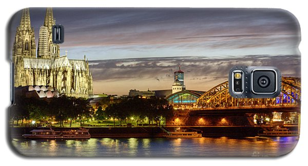 Cologne Cathedral With Rhine Riverside Galaxy S5 Case by Heiko Koehrer-Wagner