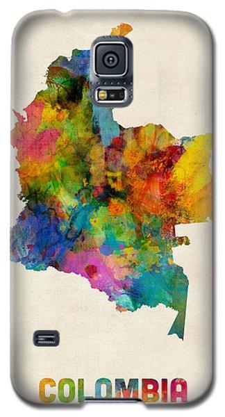 Colombia Watercolor Map Galaxy S5 Case