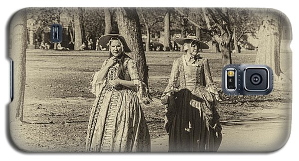 Galaxy S5 Case featuring the photograph Colonial Ladies I by Terry Rowe