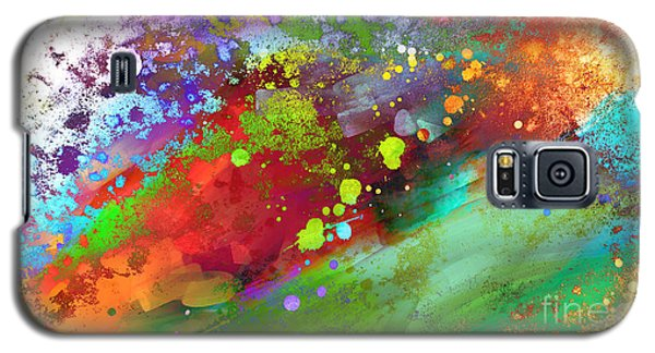 Color Explosion Abstract Art Galaxy S5 Case by Ann Powell