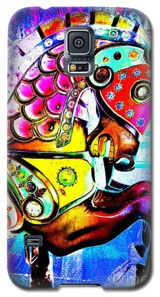 Color Explosion Carrousel Horse Galaxy S5 Case