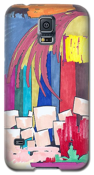 Galaxy S5 Case featuring the painting Color Fun II by Teddy Campagna
