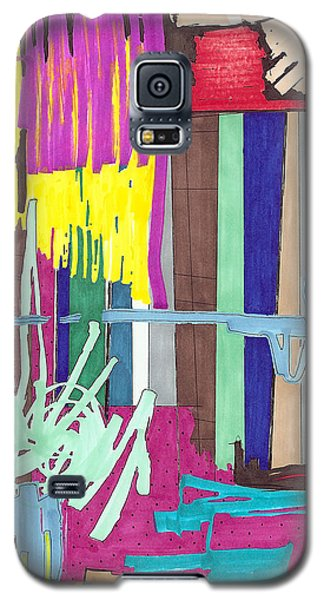 Galaxy S5 Case featuring the painting Color Fun Iv by Teddy Campagna