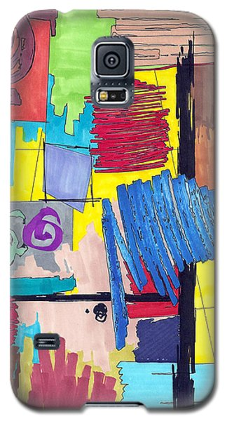 Galaxy S5 Case featuring the painting Color Fun Vi by Teddy Campagna
